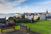 View of Tenby town and harbour Pembrokeshire Wales historic Welsh town — Stock Photo