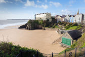 Beach next to St Catherines Island Tenby Wales UK — Stock Photo