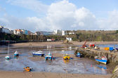 Boats in Welsh harbour of Tenby Pembrokeshire Wales UK — Stock Photo