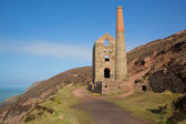 Cornwall Tin mine England UK near St Agnes Beacon on the South West Coast Path known as Wheal Coates — Stock Photo