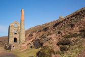 Cornwall Tin mine England UK near St Agnes Beacon on the South West Coast Path known as Wheal Coates — Stock Photo