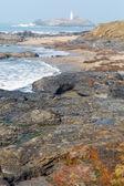 Cornwall coast godrevy lighthouse île st ives baie cornwall Angleterre uk — Photo