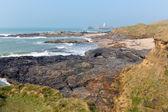 Cornwall coast Godrevy lighthouse island St Ives Bay Cornwall England UK — Stock Photo
