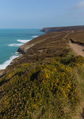 South West Coast Path near Porthtowan and St Agnes Cornwall England UK a popular tourist destination on the North Cornish heritage coastline — 图库照片