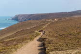 South West Coast Path near Porthtowan and St Agnes Cornwall England UK a popular tourist destination on the North Cornish heritage coastline — Stock fotografie