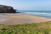 Porthtowan beach near St Agnes Cornwall England UK a popular tourist destination on the North Cornish heritage coast — Stock fotografie