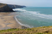 Porthtowan beach near St Agnes Cornwall England UK a popular tourist destination on the North Cornish heritage coast — 图库照片