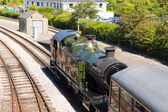 Parní vlak dartmouth stanice devon Anglie uk — Stock fotografie