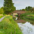 English country scene with bridge over a river — Stock Photo #47181091