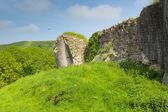 Corfe Castle Dorset England ruins of English fortification — Stock Photo