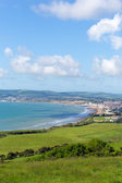 Isle of Wight coast view towards Shanklin and Sandown from Culver Down — Foto de Stock