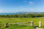 Isle of Wight coast view towards Shanklin and Sandown from Culver Down — Stock Photo