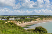 Whitecliff Bay near Bembridge east Isle of Wight — Stock Photo