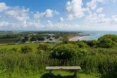 Whitecliff zálivu poblíž bembridge východ isle of wight — Stock fotografie