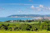 Isle of Wight coast view towards Shanklin and Sandown from Culver Down — ストック写真