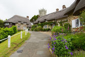 Godshill village Isle of Wight located between Newport and Ventnor in the southeast of the Island — Stock Photo