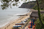 Shanklin Isle of Wight by the famous chine tourist attraction — Stock Photo