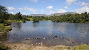 Tarn Hows Lake District National Park England uk between Coniston Water and Windermere — Stock Video
