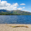 Coniston water Lake District National Park England uk on a beautiful sunny summer day popular tourist attraction — Stock Photo #50104735