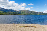 Coniston water Lake District National Park England uk on a beautiful sunny summer day popular tourist attraction — Stock Photo