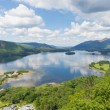 Derwent Water Lake District National Park Cumbria near Keswick surrounded by mountains elevated view — Stock Photo #50484571