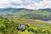 High Spy and Maiden Moor mountains and Derwent Water Lake District National Park Cumbria south of Keswick — Stock Photo