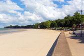 Ryde à beira-mar e praia a ilha de wight iow — Foto Stock