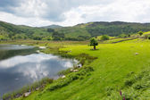 Watendlath Tarn Lake District Cumbria England between the Borrowdale and Thirlmere valleys close to Derwent Water — Stock Photo