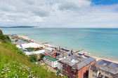 Shanklin Isle of Wight England UK, popular tourist and holiday location east coast of the island on Sandown Bay with sandy beach — Stock Photo
