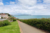 Path to seafront Shanklin town Isle of Wight England UK, popular tourist and holiday location east coast of the island on Sandown Bay with sandy beach — Stock Photo