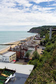 Shanklin town Isle of Wight England UK, popular tourist and holiday location east coast of the island on Sandown Bay with sandy beach — Stock Photo