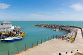 Isle of Wight harbour Ventnor uk south coast of the island tourist town — Stock Photo