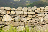 Dry stone wall with no mortar from north of England in the Lake District National Park Cumbria — Stock Photo