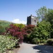 Grasmere village church Cumbria popular tourist destination English Lake District National Park — Stock Photo #51524845