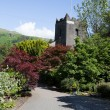 Grasmere village church Cumbria popular tourist destination English Lake District National Park — Stock Photo #51524985
