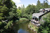 Grasmere village Cumbria popular tourist destination English Lake District National Park — Stock fotografie