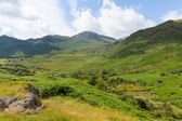 View to the south of Blea Tarn between Great Langdale and Little Langdale Lake District Cumbria England UK — Stock Photo