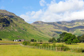 Langdale Valley Lake District Cumbria Pike of Blisco mountain near Old Dungeon Ghyll England UK in summer blue sky and clouds scenic — Stock Photo