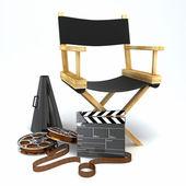 Krzesło reżysera — Zdjęcie stockowe