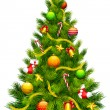 Royalty-Free Stock Imagen vectorial: Decorated Christmas Tree