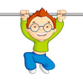 Hanging Kid — Stock Vector