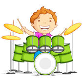 Drummer — Stock Vector