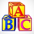 Vector de stock : ABC Block