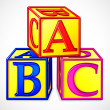 ABC Block — Vettoriali Stock