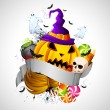 hallowen background — Stock Vector