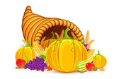 Thanksgiving Cornucopia — Stock Vector