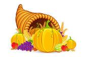 Thanksgiving Cornucopia — Stock Vector