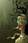 Mummy in Halloween Night — Stock Vector
