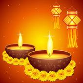 Diwali Decoration — Stock Vector