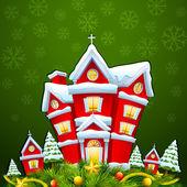 メリー クリスマスのための家の装飾 — ストックベクタ